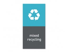 17102 simplehuman magneticky stitek na odpadkovy kos recyklovatelny odpad mixed recycling
