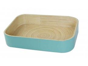 16871 bambusovy organizer na kuchynske doplnky compactor 31 5 x 22 5 x 6 cm leskly lak aqua