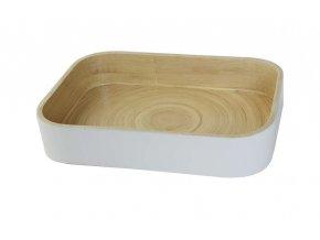 16865 bambusovy organizer na kuchynske doplnky compactor 31 5 x 22 5 x 6 cm leskly lak bila