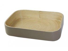 16868 bambusovy organizer na kuchynske doplnky compactor 31 5 x 22 5 x 6 cm leskly lak taupe