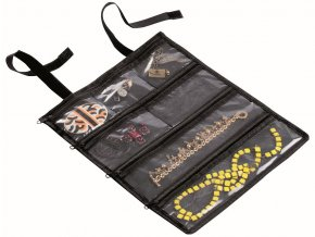 16838 cestovni pouzdro sperky compactor bijoux 26 5 x 32 cm polyester cerne