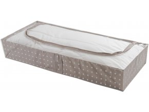 16610 nizky textilni ulozny box compactor rivoli 107 x 46 x15 cm hnedy