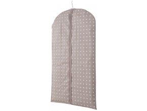 16574 obal na obleky a kratke saty compactor rivoli 60 x 100 cm hnedy
