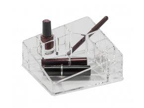 15779 organizer na kosmetiku compactor 8 prihradek kompaktni rozmery ciry plast