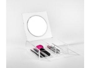15791 organizer na kosmetiku se zrcatkem compactor 2 prihradky ciry plast