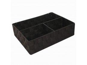 16751 organizer na pradlo a doplnky compactor tex 3 dilny 32 x 25 x 8 cm cokoladovy