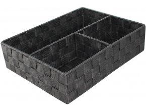 16745 organizer na pradlo a doplnky compactor tex 3 dilny 32 x 25 x 8 cm sedy