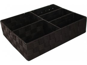 16613 organizer na pradlo a doplnky compactor tex 5 dilny 32 x 25 x 8 cm cokoladovy