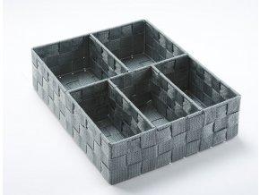 16607 organizer na pradlo a doplnky compactor tex 5 dilny 32 x 25 x 8 cm sedy