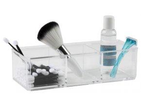 15764 organizer na sperky a kosmetiku compactor 3 prihradky ciry plast