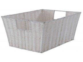 16724 rucne pleteny ulozny kosik compactor etna 31 x 24 x 14 cm bily