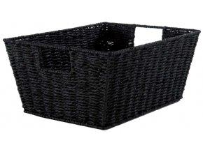 16721 rucne pleteny ulozny kosik compactor etna 31 x 24 x 14 cm cerny