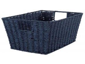 16715 rucne pleteny ulozny kosik compactor etna 31 x 24 x 14 cm modry