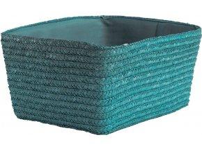 16880 rucne pleteny ulozny kosik compactor hawai 32 x 22 x 14 cm tyrkysovy
