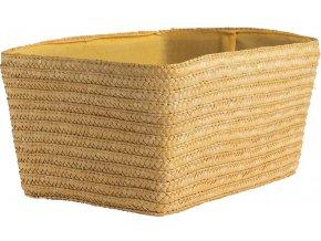 16877 rucne pleteny ulozny kosik compactor hawai 32 x 22 x 14 cm zluty