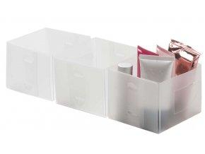 16634 set 3 ks velkych transparentnich organizeru compactor optimo 30 x 15 5 x 8 cm