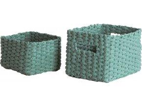 16898 set pletenych kosiku compactor lisou 2 dilny zeleny aqua