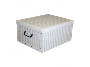 16958 skladaci ulozna krabice karton box compactor anton 50 x 40 x 25 cm bila seda