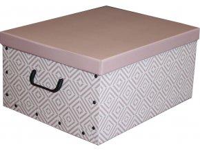 16955 skladaci ulozna krabice karton box compactor nordic 50 x 40 x 25 cm ruzova antique