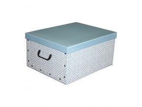 16952 skladaci ulozna krabice karton box compactor nordic 50 x 40 x 25 cm svetle modra