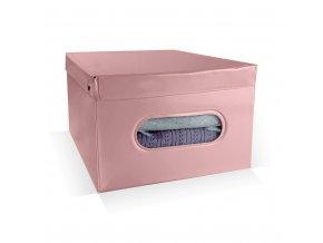 16949 skladaci ulozny box pvc se zipem compactor nordic 50 x 38 5 x 24 cm ruzovy antique