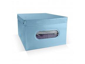 16946 skladaci ulozny box pvc se zipem compactor nordic 50 x 38 5 x 24 cm svetle modry