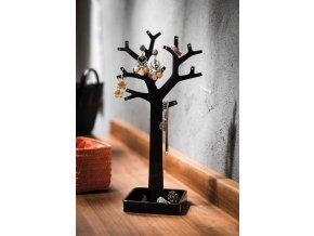 15680 stojan na sperky ve tvaru stromu compactor cerny plast