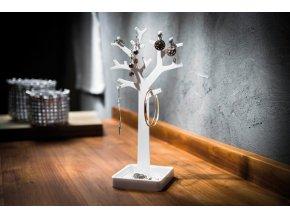 15683 stojan na sperky ve tvaru stromu compactor bily plast
