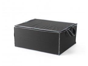 15329 textilni ulozny box na 2 periny compactor 55 x 45 x 25 cm cerny