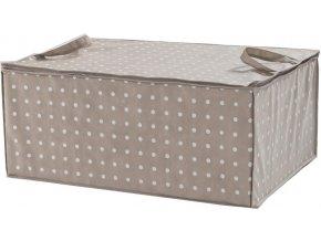 16586 textilni ulozny box na perinu compactor rivoli 70 x 50 x 30 cm hnedy