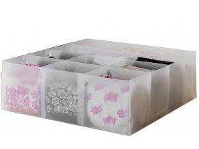 16631 transparentni organizer do zasuvky na spodni pradlo compactor optimo 12 prihradek