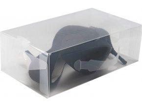 16622 transparentni ulozny box na boty lodicky compactor m 18 x 34 x 10 cm
