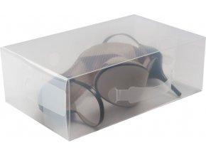 16625 transparentni ulozny box na boty lodicky compactor l 21x 34 x 13 cm