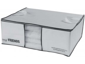 16652 ulozny box na 2 periny compactor my friends 58 5 x 68 5 x 25 5 cm bily polypropylen
