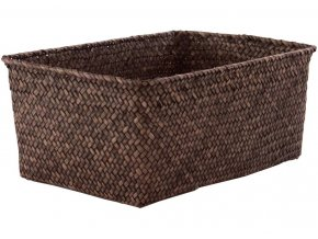 16694 ulozny kosik compactor kito rucne pleteny 30 x 20 x 13 cm kourove hnedy