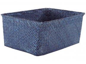 16703 ulozny kosik compactor kito rucne pleteny 30 x 20 x 13 cm modry jeans