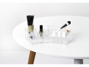 15794 zaobleny organizer na kosmetiku compactor 18 prihradek ciry plast