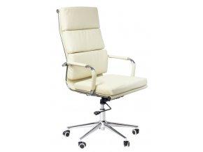 Kancelářská židle ADK Soft krémová