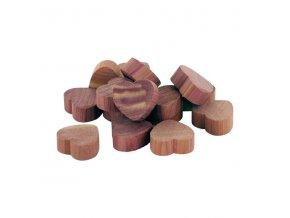 Sada 15 ks odpuzovačů molů Compactor z cedrového dřeva - srdce do zásuvky