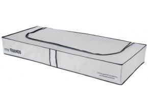 "Nízký textilní úložný box Compactor ""My Friends"" 108 x 45 x15 cm, šedo-bílý"