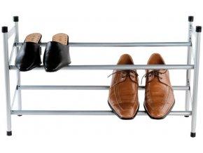 Dvoupatrový botník Compactor Stilito na 6-12 párů bot - rozšířitelný 62-117 x 23 x 35 cm