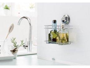 Malá police do kuchyně bez vrtání Compactor - Bestlock systém, nosnost až 6 kg