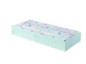 Nízký textilní úložný box na oblečení a přikrývky Compactor Daman 107 x 46 x 16 cm