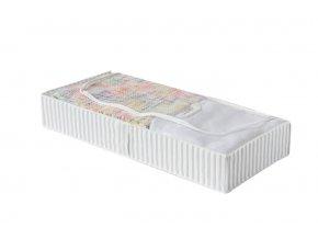 Nízký textilní úložný box na oblečení a přikrývky Compactor Anton 107 x 46 x 16 cm