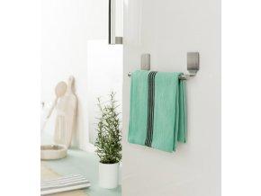 Magnetický věšák na ručníky Compactor - krátký, 23,5 x 4,5 x 6,5 cm
