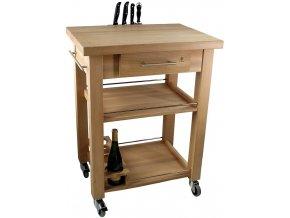 Dřevěný servírovací stolek I