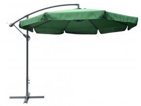 Slunečník EXCLUSIVE nepromokavý boční 3m zelený