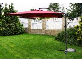 Zahradní slunečník 270x270cm boční noha