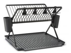 Foldable Dish Rack, Large Dark Grey 8710755139482 Brabantia 96dpi 1000x666px 7 NR 23825