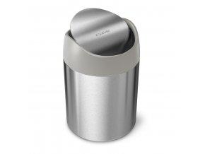 3895 simplehuman mini odpadkovy kos na stul 1 5 l kartacovana nerez ocel cw2084
